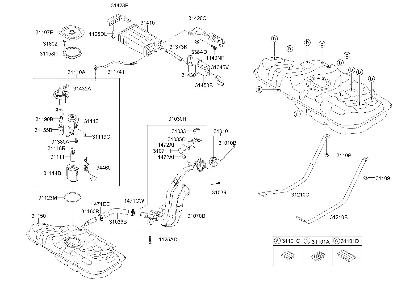 Hyundai Veloster Pump - Fuel  Spec  Pzev  Excpzev