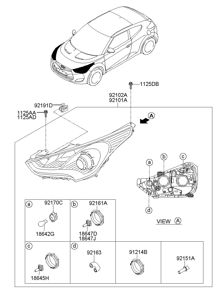 921663k000 - Hyundai Holder Assembly