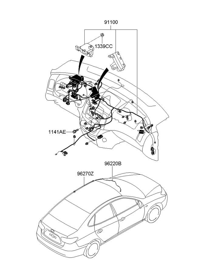 2008 Hyundai Elantra Parts Diagram