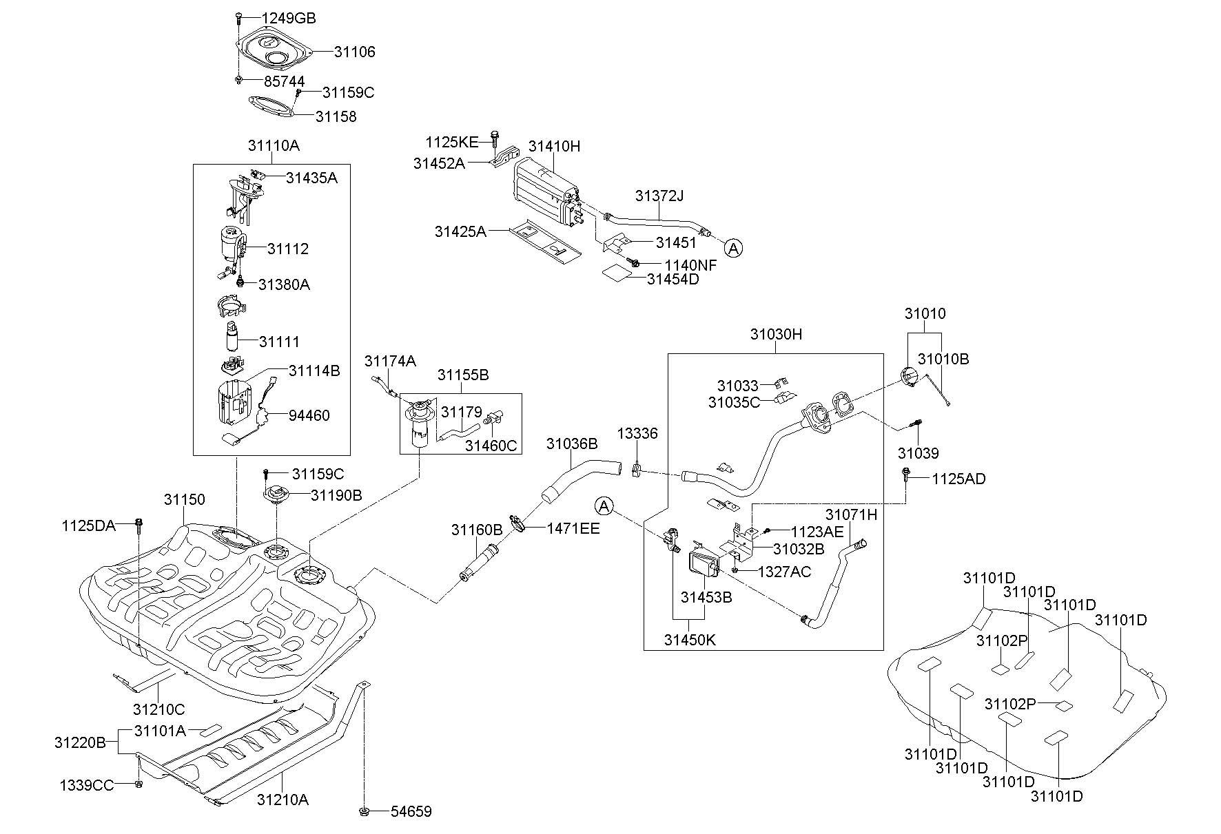 314352j000 - Hyundai Sensor