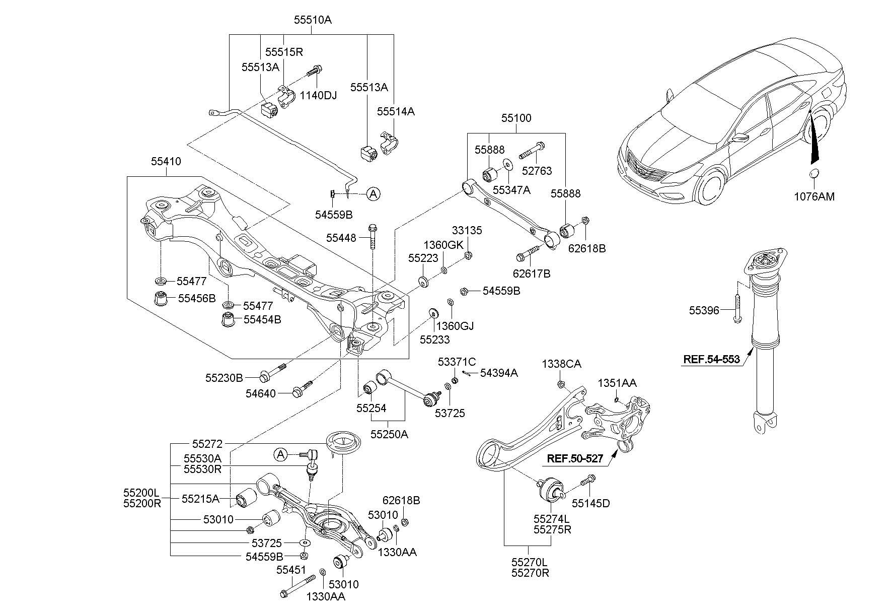 546403R000 - Hyundai Cam - bolt assembly. Short | Jim ...