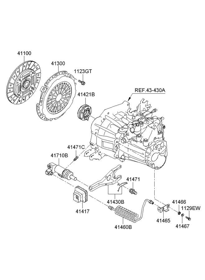 4143023200 - Hyundai Fork Assembly