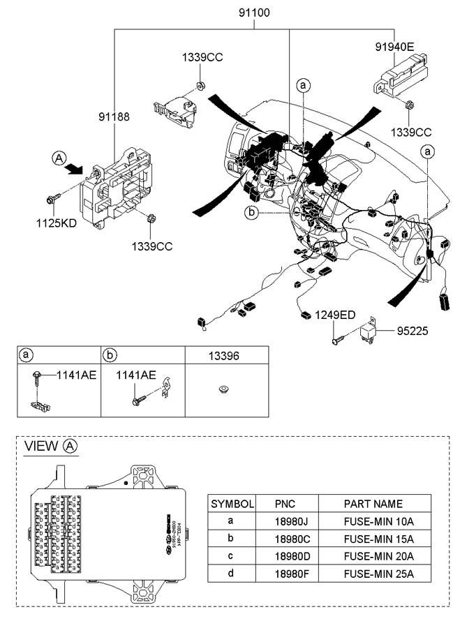 919502h010 - hyundai lower cover  r junction box