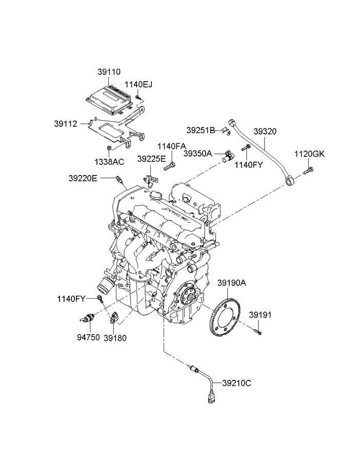 hyundai tucson thermostat location