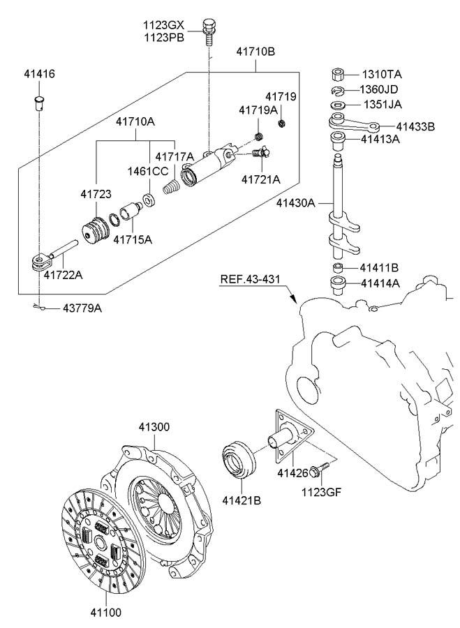 Hyundai Tucson Clutch Release Fork  Manual Transmission