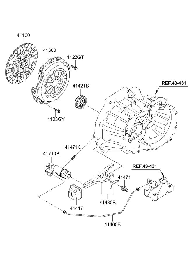 CLUTCH RELEASE FORK (MANUAL TRANSMISSION)