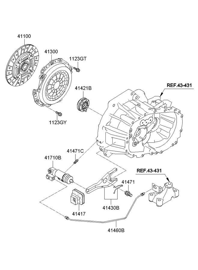 Hyundai Accent Clutch Release Fork Manual Transmission Manual Guide