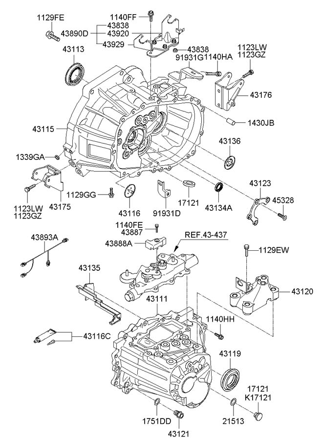 4389023061 - Hyundai Bracket Assembly