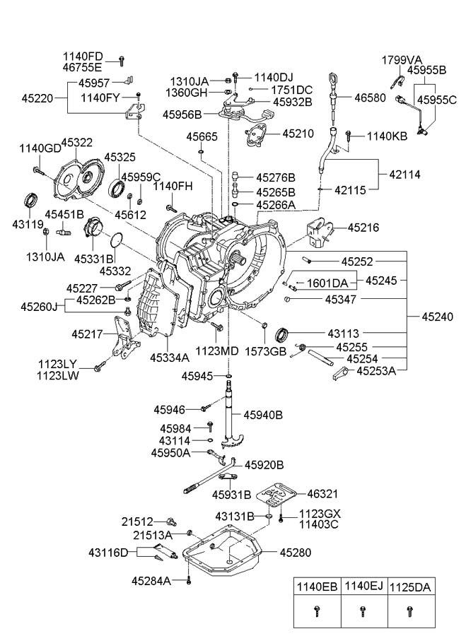 4528022100 - Hyundai Pan Assembly