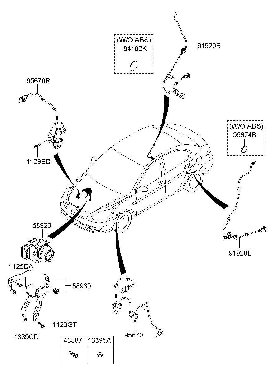 Hyundai Accent Plug  Antilockecm  Antennarodblack