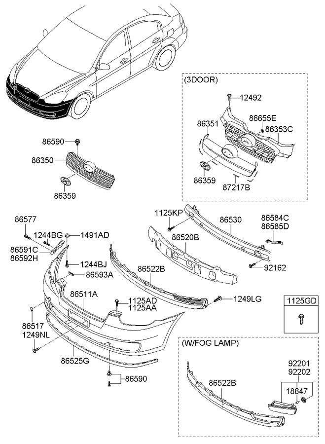 2009 Hyundai Accent Bracket