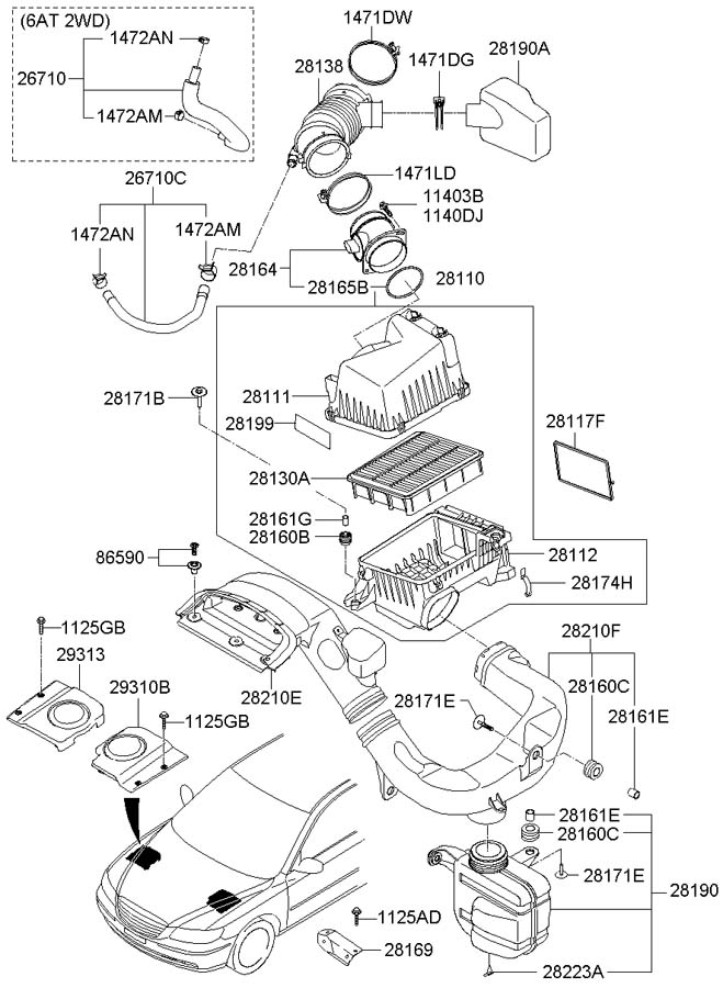 8659028000 - Hyundai Retainer Assembly
