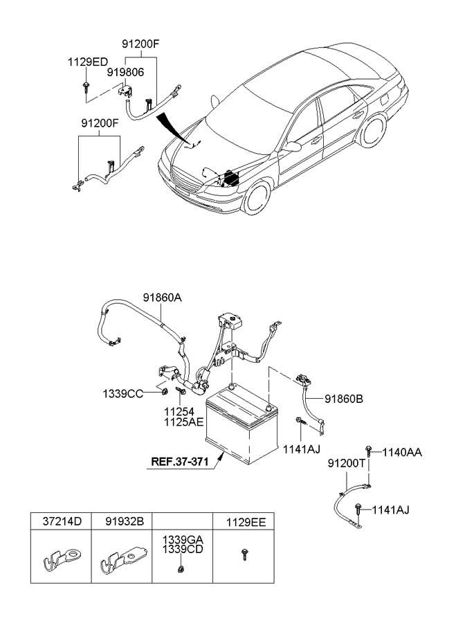 918503k111 - Hyundai Wiring Assembly