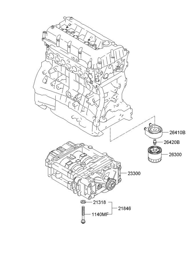 2330025220 - hyundai shaft assembly