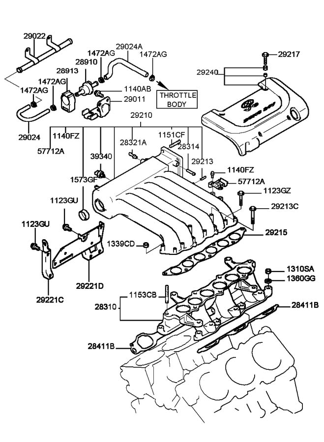 2012 hyundai accent intake parts