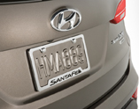 Diagram License Plate Frame for your 2014 Hyundai Accent