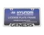 License Plate Frame. Black Powder. image for your 2013 Hyundai Elantra