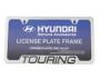 License Plate Frame. Chrome. image for your 2014 Hyundai Accent