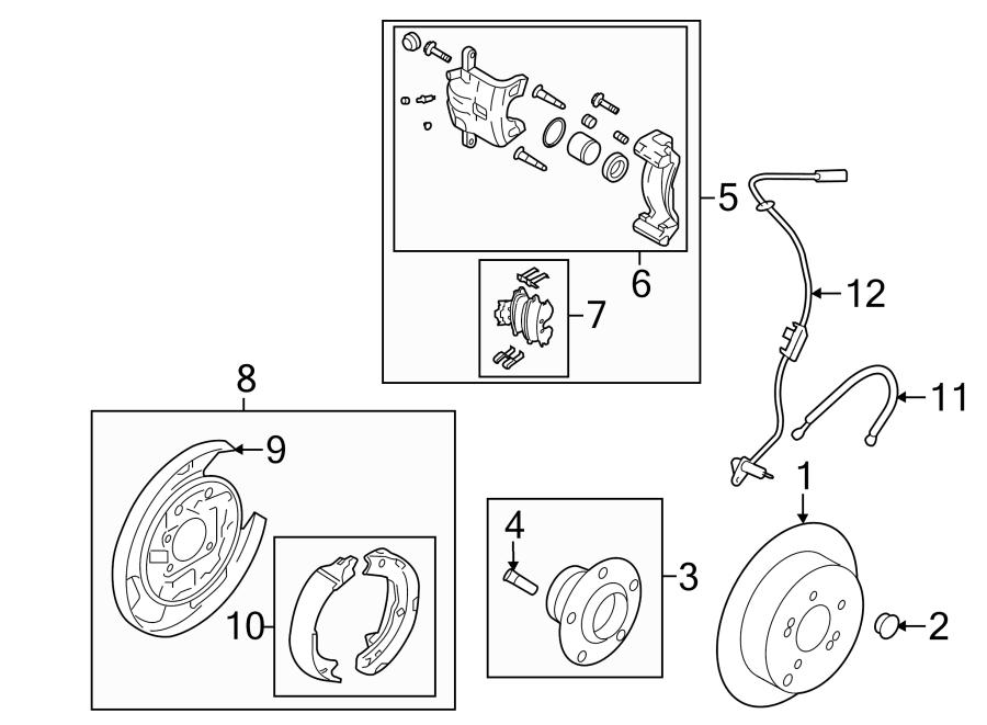 hyundai sonata bolt - hub  brakes
