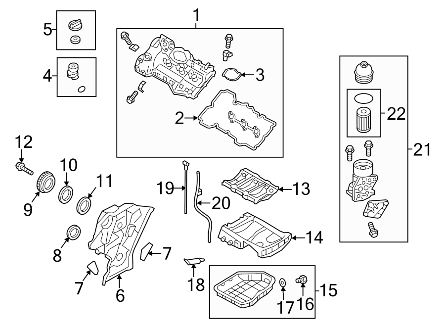 hyundai genesis g90 engine crankshaft seal parts covers. Black Bedroom Furniture Sets. Home Design Ideas