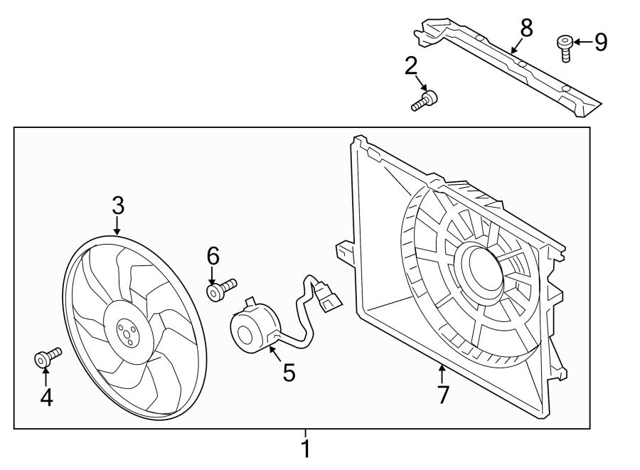 2015 Hyundai Santa Fe Engine Cooling Fan Shroud  Shroud