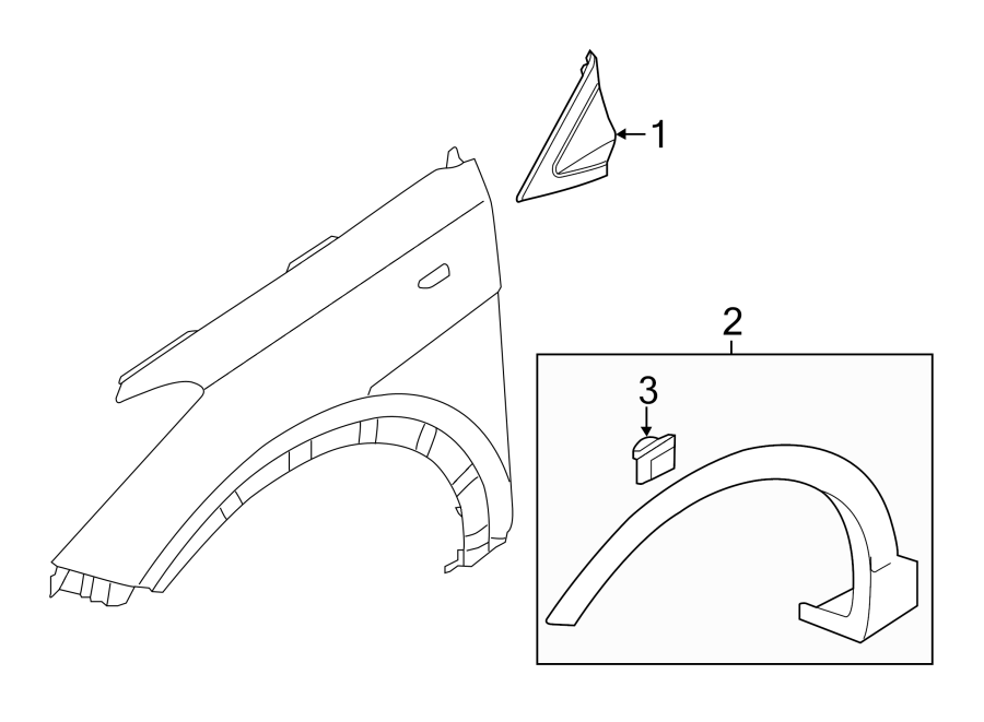 Hyundai Santa Fe Door Molding Clip Finish Panel Pad