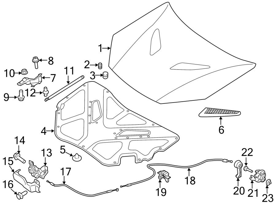 2015 hyundai genesis coupe pad - hood insulating