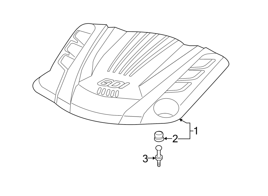 2013 Hyundai Genesis Coupe Cover Assembly