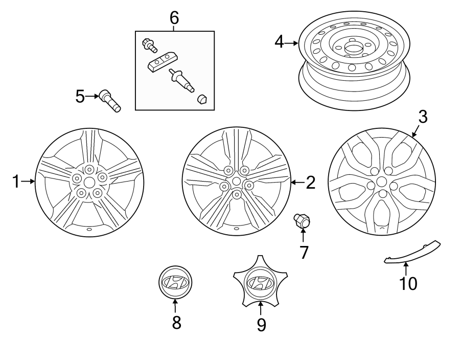 2015 Hyundai Veloster Valve - Tpms  Wheels  Monitor  Inclcap  Covers