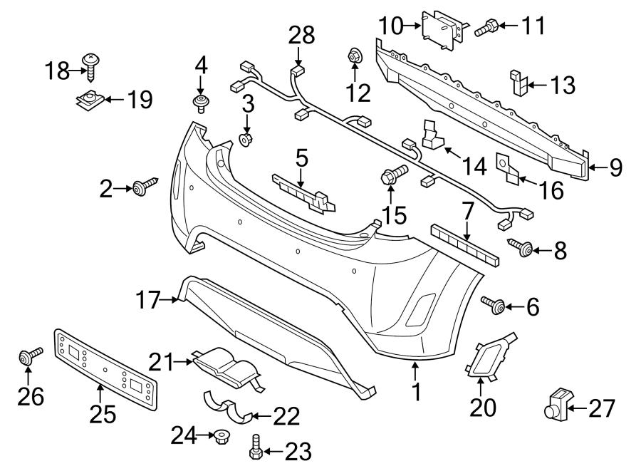 2015 Hyundai Veloster Bracket Assembly Rear   Rear  Rr