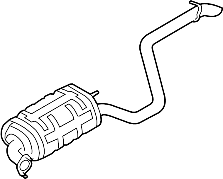2007 hyundai elantra pipe  muffler  wmuffler