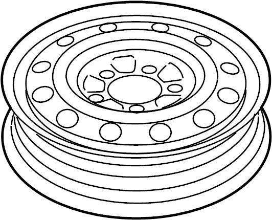 529100w920 Hyundai Wheel Assembly Temporary Wheels