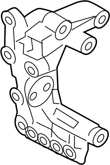 hyundai santa fe a  c drive belt idler pulley bracket  belt tensioner bracket  mount bracket