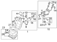 2014-15 40% SEAT SPLIT-BENCH SEAT. REAR SEAT COMPONENTS.